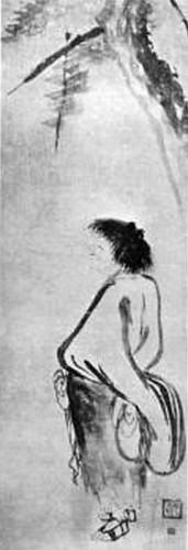 Kao, Kenzan, Rotolo verticale, pittura a inchiostro su carta Kanagawa, Museo Nagao..jpg